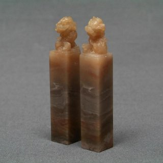 【規格品】 印材 紐付巴林彩凍石 1.3cm二課