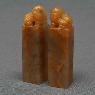 【規格品】 印材 紐付巴林彩凍石 1.5cm二課