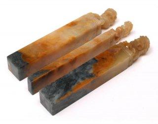 【規格品】 印材 紐付巴林彩凍石 1.2cm三課