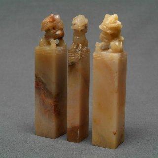 【規格品】 印材 紐付巴林彩凍石 1.5cm三課