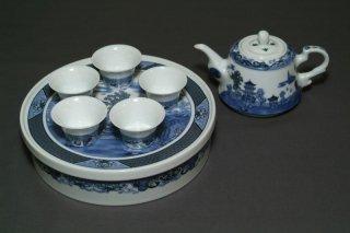 景徳鎮茶器セット 茶盆付