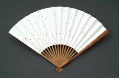 中国古竹 銘刻 酒金箋扇子