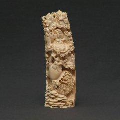 八仙人図 象牙置物 中国工芸