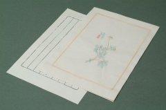 中国木版便箋  #03-2 10枚 縦横罫下敷付き