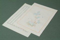 中国木版便箋  #03-6 10枚 縦横罫下敷付き