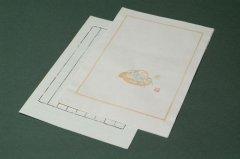 中国木版便箋  #03-7 10枚 縦横罫下敷付き