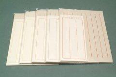 楮紙 レターセット 8行罫 グレー 日本製