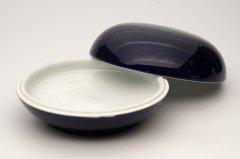 陶器印合 祭藍釉  (十両装用)
