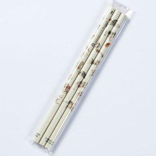鉛筆3本セット 百鬼夜行絵巻