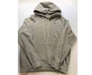 WHITE LINE / DAMAGE HOODED