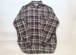 WHITE LINE / RAYON CHECK SHIRT