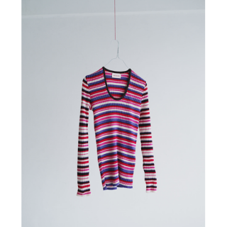 MEYAME(メヤメ) COLOR GATHERING PULLOVER [WOMEN]