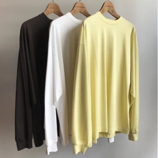 unfil(アンフィル) SUVIN COTTON JERSEY WIDE&LONG SLEEVE TEE