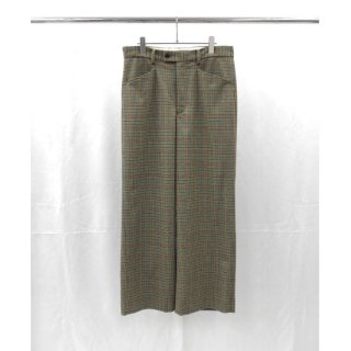 URU(ウル) WOOL CHECK WIDE PANTS
