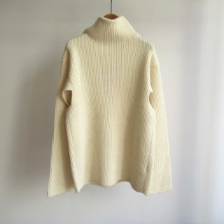 unfil(アンフィル) BLUEFACED LEICESTER BOTTLE NECK SWEATER [WOMEN]