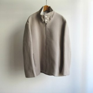 NO CONTROL AIR(ノーコントロールエアー) BABY LAMBWOOL DOUBLE CLOTH STAND COLLAR BLOUZON