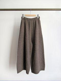 unfil(アンフィル) BOILED CAMEL WIDE LEG PANTS [WOMEN]