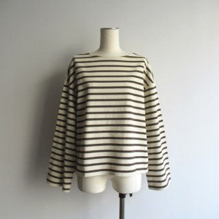 mizuiro-ind(ミズイロインド) BOAT NECK BORDER PULL OVER [WOMEN]