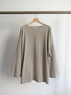 unfil(アンフィル) STRIPED ORGANIC COTTON JERSEY BOATNECK TEE