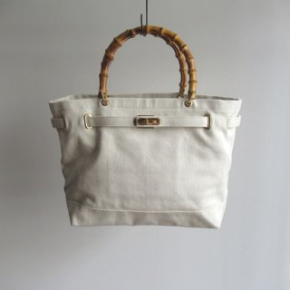 sita parantica(シータパランティカ) CANVAS HERRINGBONE BAMBOO TOTE BAG / TOTE-CVHB-M [WOMEN]