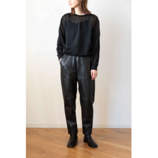 PHEENY(フィーニー) NYLON SMOOTH CREW NECK [WOMEN]