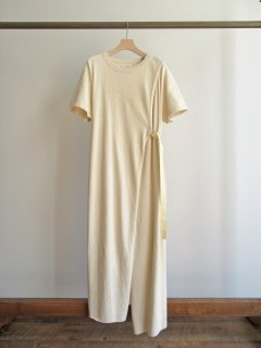 unfil(アンフィル) VINTAGE COTTON-PILE BELTED T-SHIRT DRESS [WOMEN]