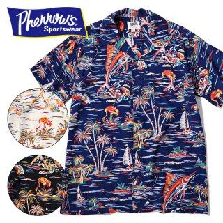 フェローズ PHERROWS 半袖 アロハシャツ ハワイアンシャツ 19S-PIS3
