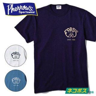 [ネコポス送料200円]フェローズ PHERROWS プリント Tシャツ FORD'S SMITHERY 19S-PTJ3