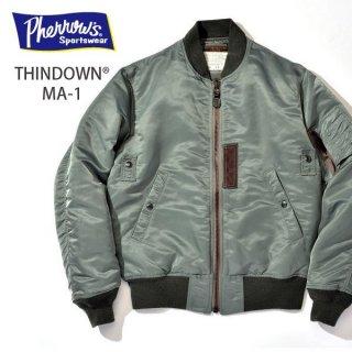 フェローズ PHERROWS MA-1 THINDOWN フライトジャケット MA1 18W-MA-1(TD)