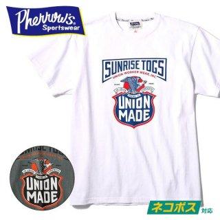 フェローズ PHERROWS プリント Tシャツ SUNRISE TOGS 19S-PT4