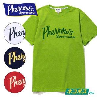 フェローズ PHERROWS プリント Tシャツ 定番ロゴ 19S-PT1