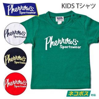 フェローズ PHERROWS キッズTシャツ PHERROWS ロゴ 19S-PT1-K