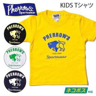 [ネコポス送料200円]フェローズ PHERROWS キッズ Tシャツ BUFFALO ロゴ 19S-PT2-K