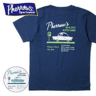 フェローズ PHERROWS プリント Tシャツ IN&OUT AUTO CARE 19S-PT12