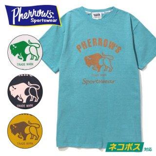 フェローズ PHERROWS プリント Tシャツ 定番ロゴ バッファロー 19S-PT2
