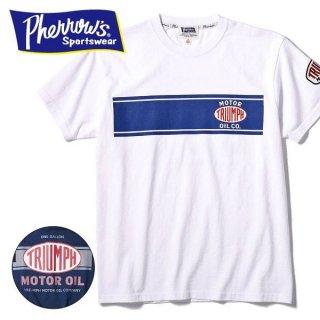 フェローズ PHERROWS プリント Tシャツ TRIUMPH MOTOR OIL 19S-PT3