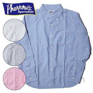 フェローズ PHERROWS セルビッチ付き オックスフォード ボタンダウンシャツ PBD1