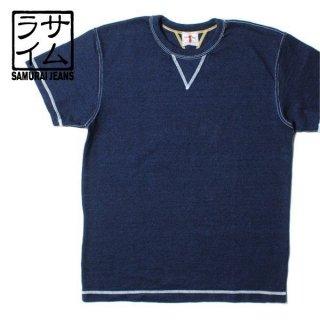サムライジーンズ SAMURAI JEANS インディゴ Vガゼット Tシャツ SJIT-103M
