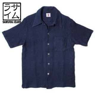 サムライジーンズ SAMURAI JEANS オープンカラー 半袖 シャツ SOS19-S01