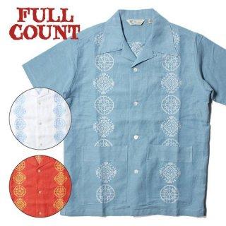 フルカウント FULLCOUNT 刺繍 半袖 キューバ シャツ 4019