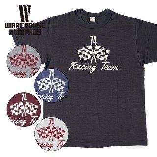 ウエアハウス WAREHOUSE プリント Tシャツ RACING TEAM 4601