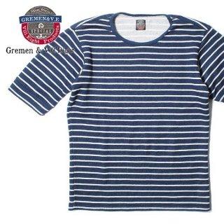 デラックスウエア DELUXEWARE グレメント&ビルエイト 6分袖 ボーダーTシャツ GROSER
