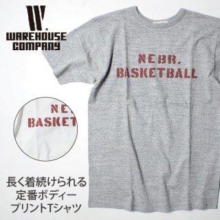 ウエアハウス WAREHOUSE ヘラーズカフェ 半袖Tシャツ BASKETBALL HC-M17