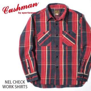クッシュマン CUSHMAN ネルチェック ワークシャツ ネルシャツ 25533