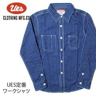 ウエス ワークシャツ ウォバッシュ ストライプ 500954 UES