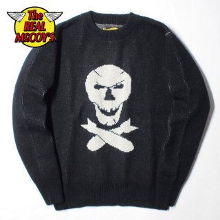 ザ リアルマッコイズ MILITARY JAQUARD SWEATER / JOLLY ROGER MC18103 THE REAL McCOY'S