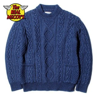 ザ リアルマッコイズ INDIGO ARAN CREWNECK SWEATER セーター MC19005 THE REAL McCOY'S