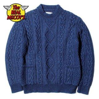 ザ リアルマッコイズ INDIGO ARAN CREWNECK SWEATER セーター MC19005 THE REAL McCOY'S