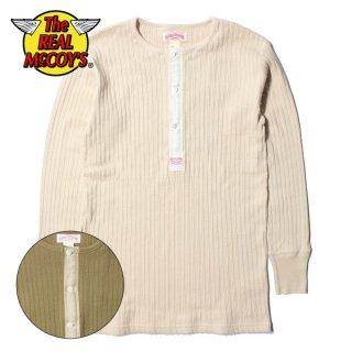 ザ リアルマッコイズ DOUBLE DIAMOND EYELET KNIT HENLEY SHIRT ヘンリーネック 長袖 Tシャツ MC19008 THE REAL McCOY'S