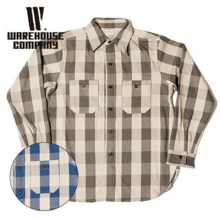 ウエアハウス ネルシャツ FLANNEL SHIRTS A柄 ONE WASH 3104 WAREHOUSE